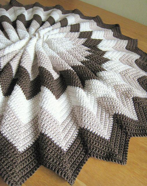 Afghan Ripple Blanket Free Crochet Pattern | DailyCrochetIdeas