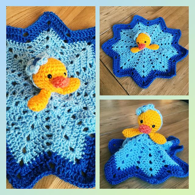 Cute Duck Blanket Free Crochet Pattern Dailycrochetideas