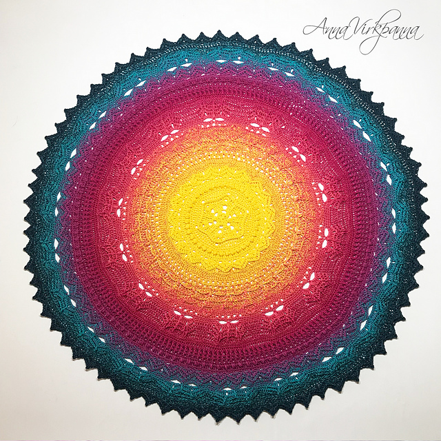 Unicorn Mandala Cal Free Crochet Pattern Dailycrochetideas