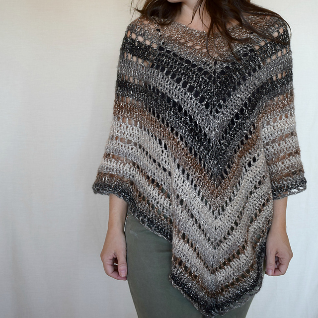 Desert Life Poncho Free Crochet Pattern Dailycrochetideas