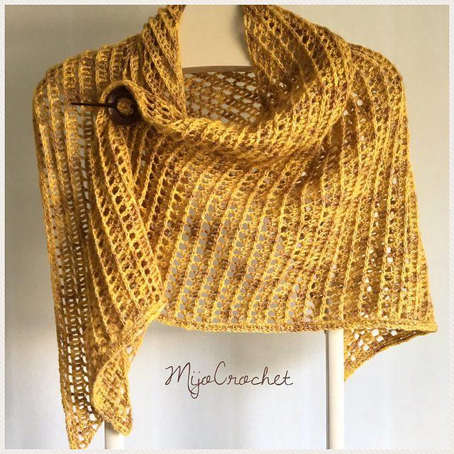 Dragon Belly Shawl Free Crochet Pattern Dailycrochetideas