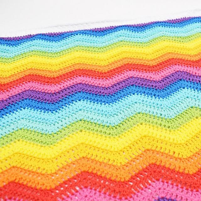 Rainbow Baby Blanket Free Crochet Pattern Dailycrochetideas