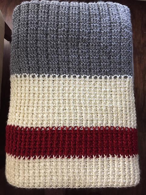 Lumberjack Crochet Throw Blanket Free Crochet Pattern