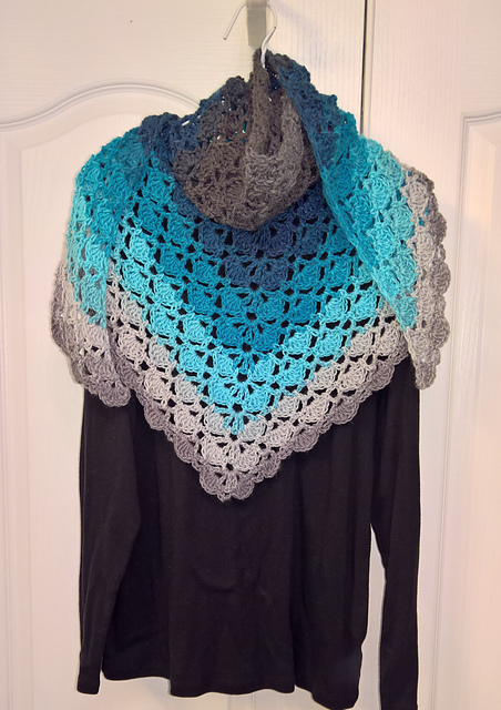 On Butterfly Wings Shawl Free Crochet Pattern