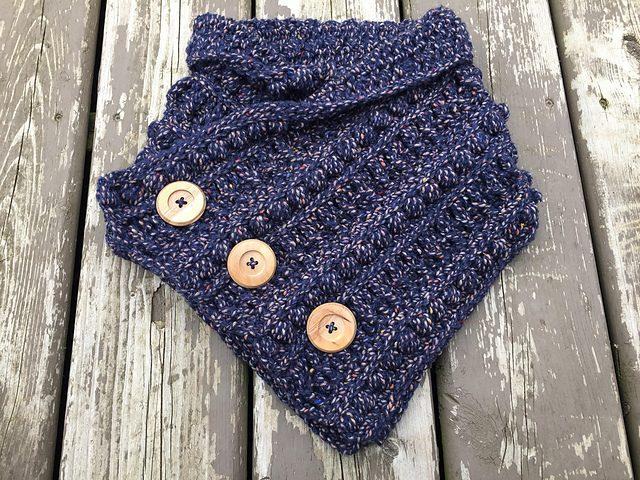 Rustic River Cowl Free Crochet Pattern Dailycrochetideas