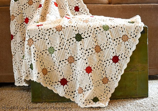 Country Christmas Afghan Blanket Free Crochet Pattern