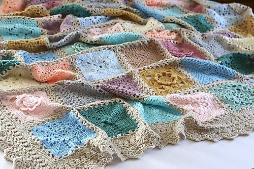 Vintage Sampler Blanket Free Crochet Pattern Dailycrochetideas