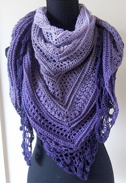 Lavender Fields Shawl Free Crochet Pattern Dailycrochetideas
