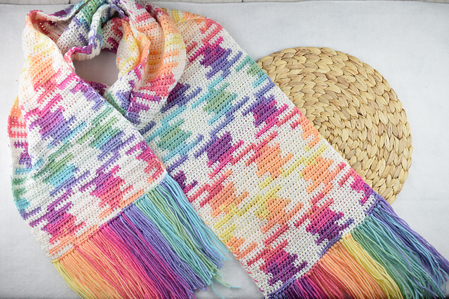 Color Pooling Scarf Free Crochet Pattern Dailycrochetideas