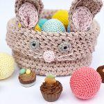 Bunny Easter Basket Free Crochet Pattern