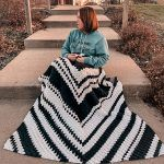Fractal Throw Blanket Free Crochet Pattern