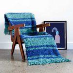 Nautical Stripes Blanket Free Crochet Pattern