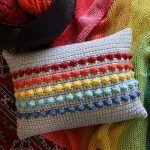 Rainbow Bobble Pillow Free Crochet Pattern