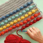 Rainbow Bobble Pillow Free Crochet Pattern2