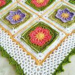 April Flowers Baby Blanket Free Crochet Pattern