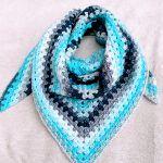 Aquamarine Joy Shawl Free Crochet Pattern