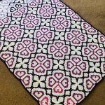 Bold Hearts Blanket Free Crochet Pattern