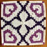 Bold Hearts Blanket Free Crochet Pattern2