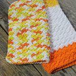 Creamsicle Dishcloth Free Crochet Pattern