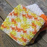 Creamsicle Dishcloth Free Crochet Pattern2