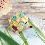 Flower Hedgehog Toy Free Crochet Pattern2