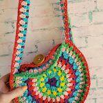 Roxy Retro Circle Bag Free Crochet Pattern