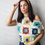 Sundrop Flower Top Free Crochet Pattern