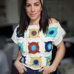 Sundrop Flower Top Free Crochet Pattern2