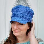 Twisted Newsboy Hat Free Crochet Pattern