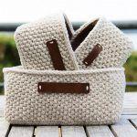 Moss Stitch Basket Free Crochet Pattern