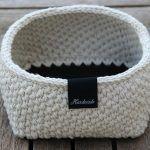 Moss Stitch Basket Free Crochet Pattern2