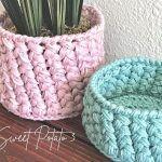 Woven Basket Free Crochet Pattern