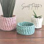 Woven Basket Free Crochet Pattern2
