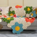 Flower Patch Throw Blanket Free Crochet Pattern