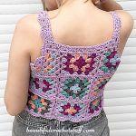 Granny Square Crop Top Free Crochet Pattern2