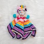 Hug Me Unicorn Lovey Baby Blanket Free Crochet Pattern2