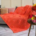 Popcorn Blooms Blanket Free Crochet Pattern