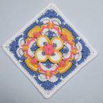 Afghan Block Free Crochet Pattern2
