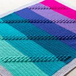 Bobble Track Blanket Free Crochet Pattern