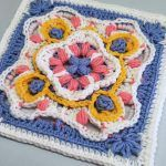 Cute Afghan Block Free Crochet Pattern