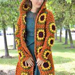Sunflower Granny Square Cardigan Free Crochet Pattern