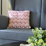 Cevro Intarsia Pillow Free Crochet Pattern