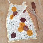 Honeycomb Kitchen Towel Free Crochet Pattern
