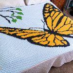 Mini C2C Butterfly Blanket Free Crochet Pattern2
