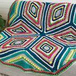 Study of Geometry Blanket Free Crochet Pattern
